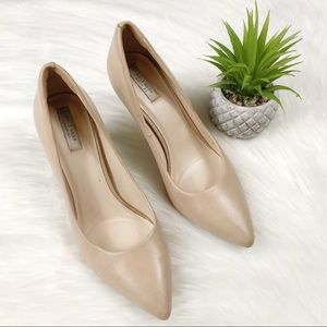 Cole Haan nude leather heels size 8